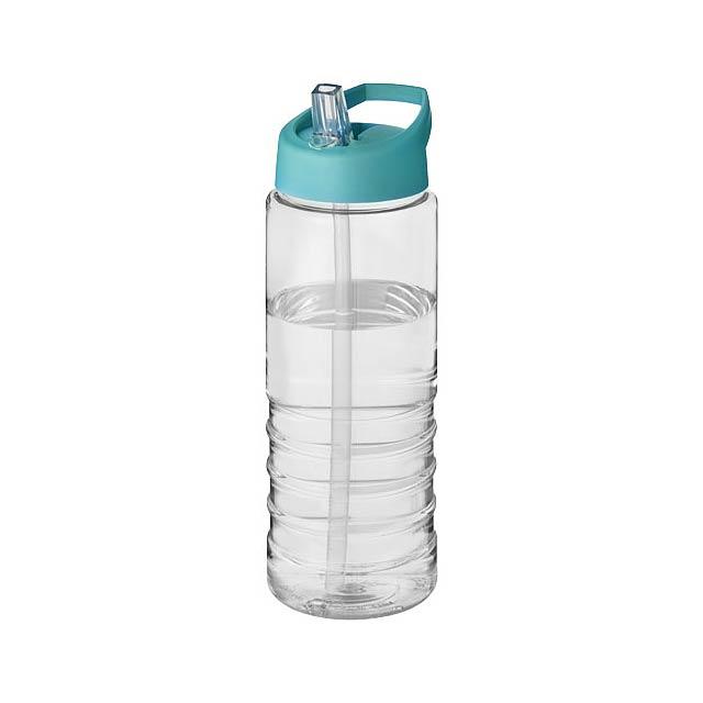 H2O Treble 750 ml sportovní lahev s víčkem s hubičkou - transparentní