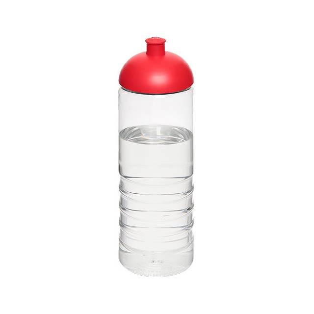 H2O Treble 750 ml sportovní lahev s kupolovitým víčkem - transparentní