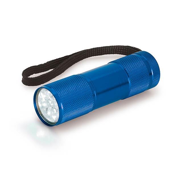 MILDRED - kovová 9 LED svítilna - modrá