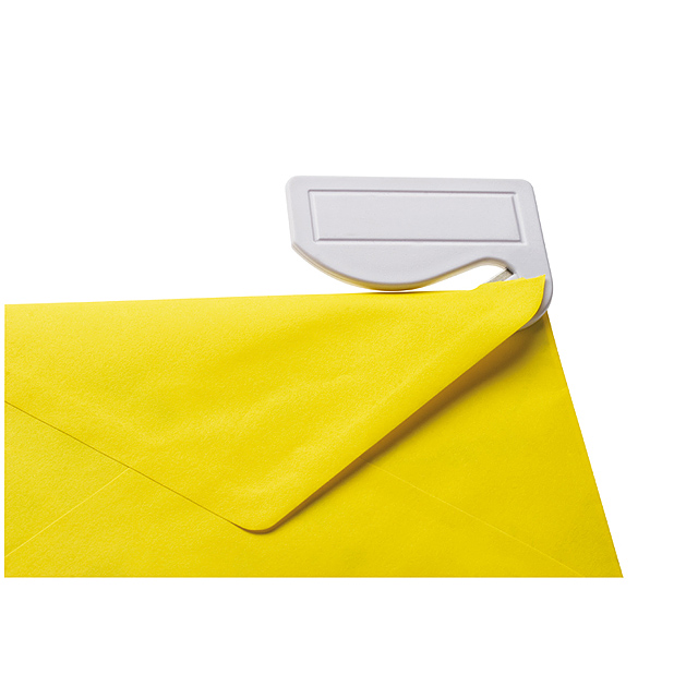 Plastový otvírák na dopisy - bílá