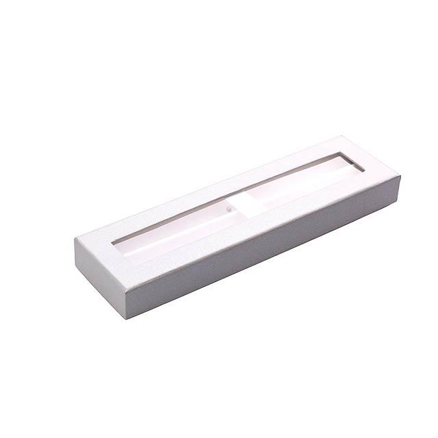 Krabička na 2 pera FINES II - bílá