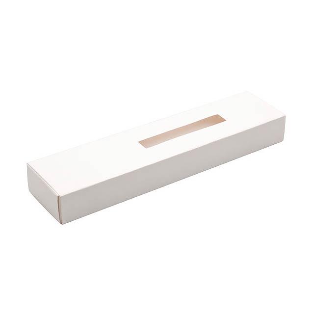 PORE krabička papírová na 1 pero  - biela