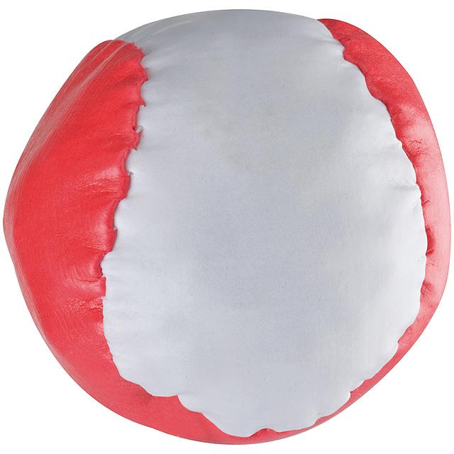 Barevný antistresový míč - červená