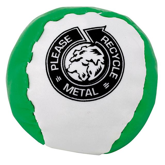 Barevný antistresový míč - zelená