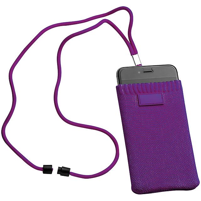 Ponožka pro mobilní telefony - fialová