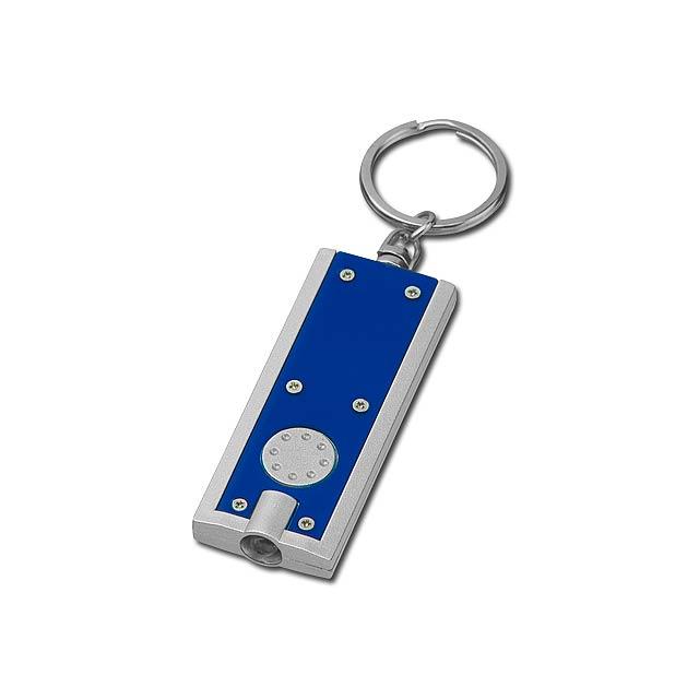 HUDSON - plastový přívěsek - LED svítilna - modrá