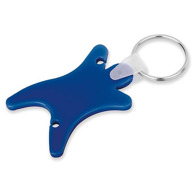 DUMMY - plastový přívěsek - organizér na sluchátka - modrá
