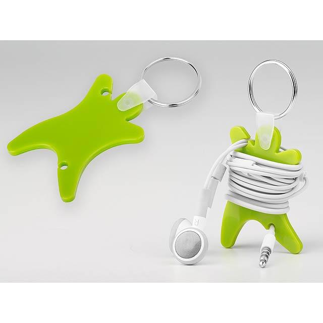 DUMMY - plastový přívěsek - organizér na sluchátka - zelená