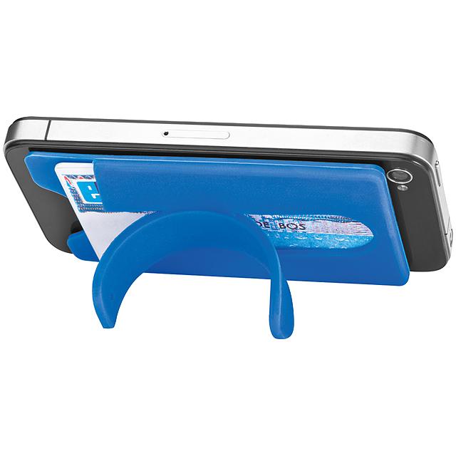 Silikonový vizitkář - modrá