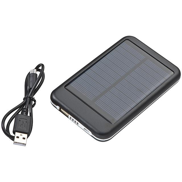 Solární power bank - černá