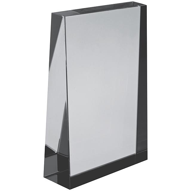 Skleněná dekorační kostka - transparentní