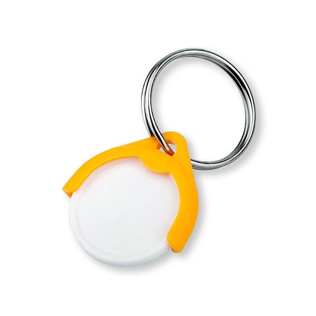 CATCH CZ - plastový přívěsek - žeton vel. 10 Kč - žlutá