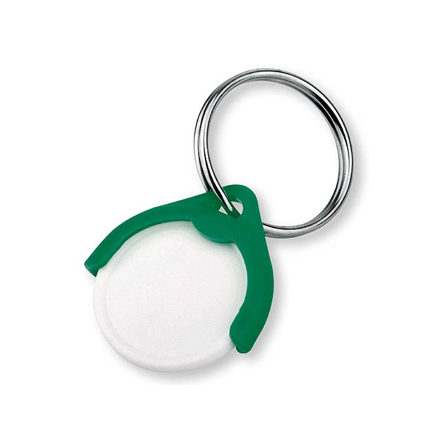 CATCH CZ - plastový přívěsek - žeton vel. 10 Kč - zelená
