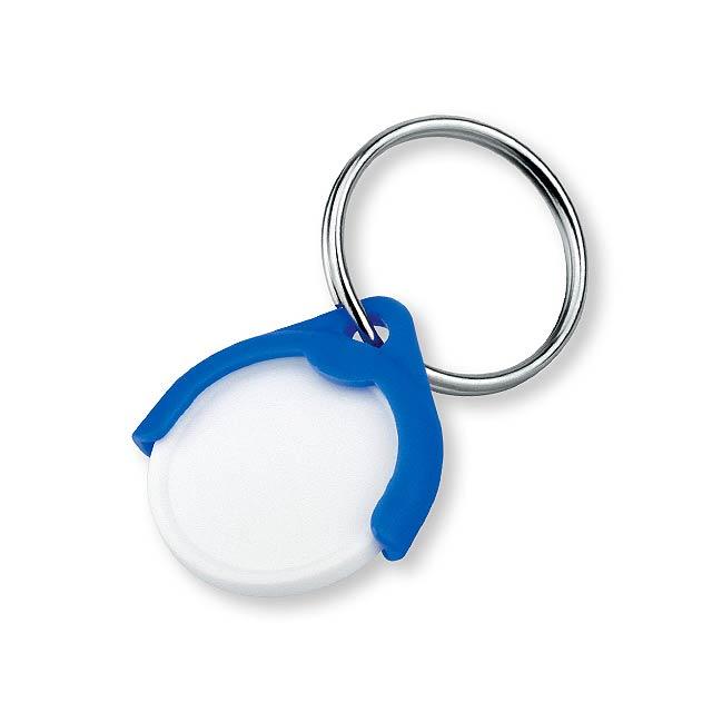 CATCH CZ - plastový přívěsek - žeton vel. 10 Kč - modrá