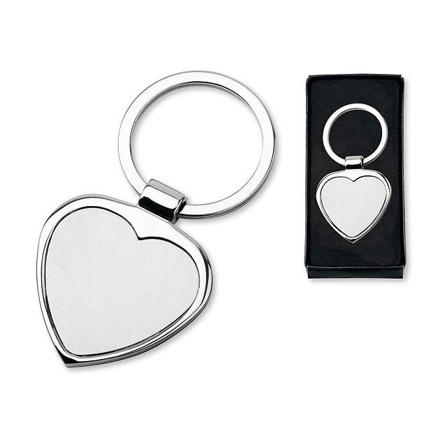 kovový přívěsek - stříbrná - foto