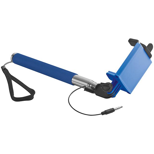 Selfie tyč - modrá