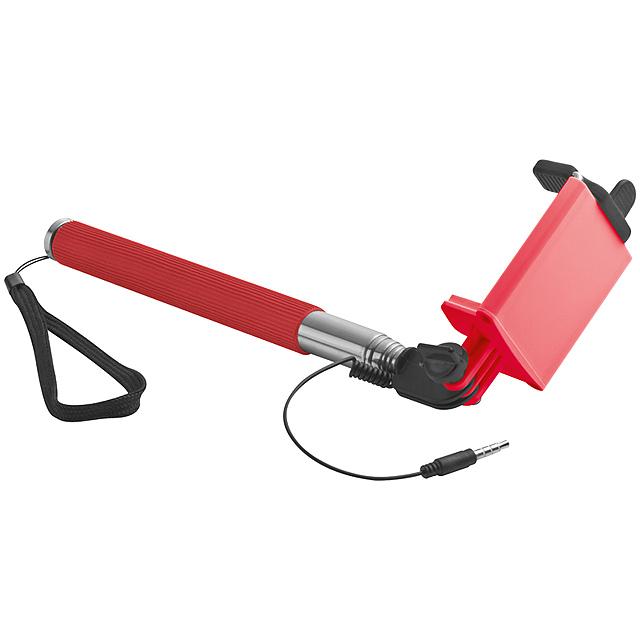 Selfie tyč - červená
