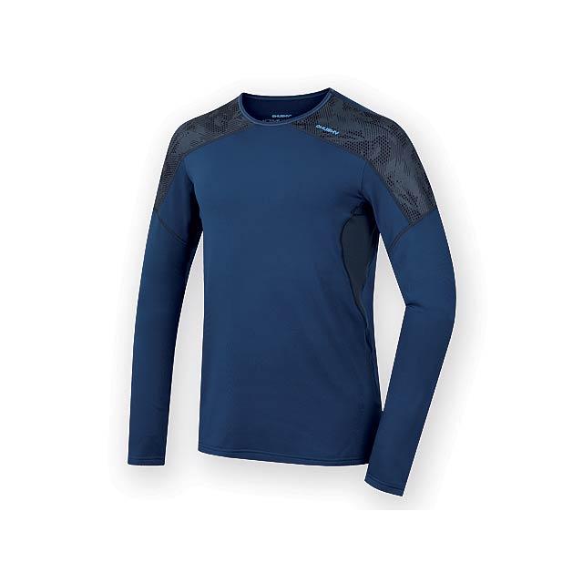 AKTIV MEN pánské triko s dlouhým rukávem, vel. M, HUSKY, Noční modrá - modrá
