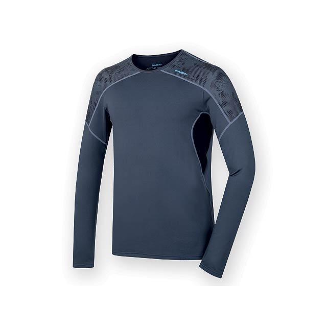 AKTIV MEN pánské triko s dlouhým rukávem, vel. L, HUSKY, Noční modrá - modrá - foto