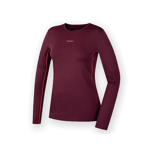 AKTIV WOMEN dámské triko s dlouhým rukávem, vel. XL, HUSKY, Bordó - červená