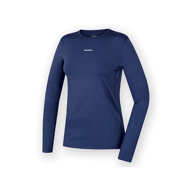 AKTIV WOMEN dámské triko s dlouhým rukávem, vel. XL, HUSKY, Noční modrá - modrá - foto