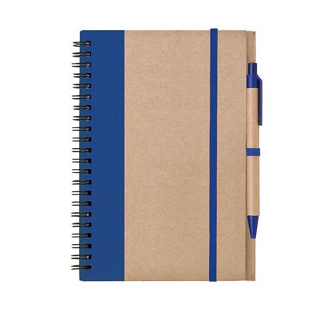 Blok – zápisník s tužkou LIBRO A5 - modrá