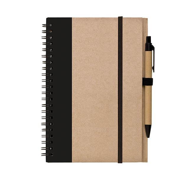 Blok – zápisník s tužkou LIBRO A5 - černá