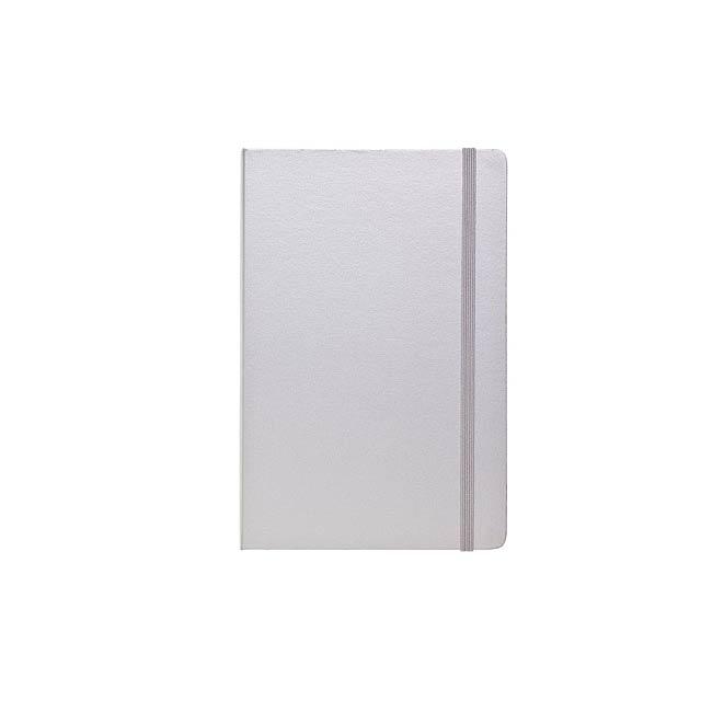 Zápisník RECORD - stříbrná