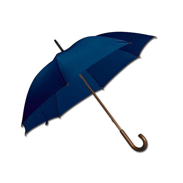 AUTOMATIC - polyesterový vystřelovací deštník, 8 panelů - modrá