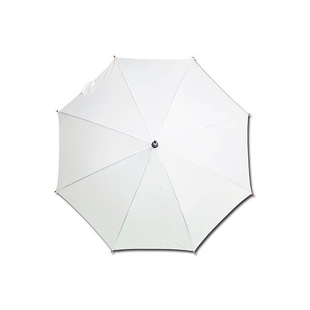 AUTOMATIC - polyesterový vystřelovací deštník, 8 panelů - bílá