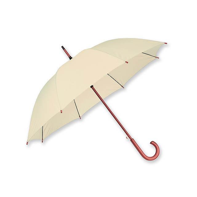 polyesterový vystřelovací deštník, 8 panelů - hnědá - foto