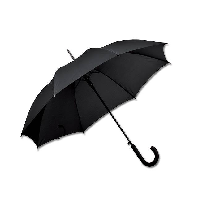 DONALD - polyesterový vystřelovací deštník, 8 panelů - černá