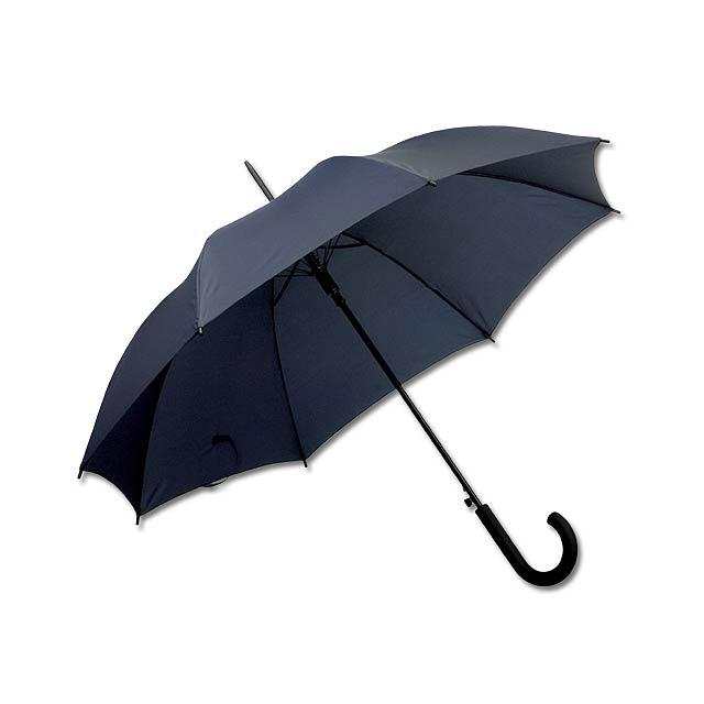 DONALD - polyesterový vystřelovací deštník, 8 panelů - modrá