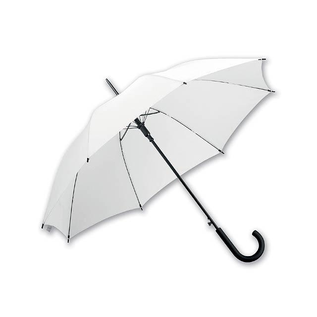DONALD - polyesterový vystřelovací deštník, 8 panelů - bílá