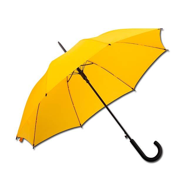 DONALD - polyesterový vystřelovací deštník, 8 panelů - žlutá