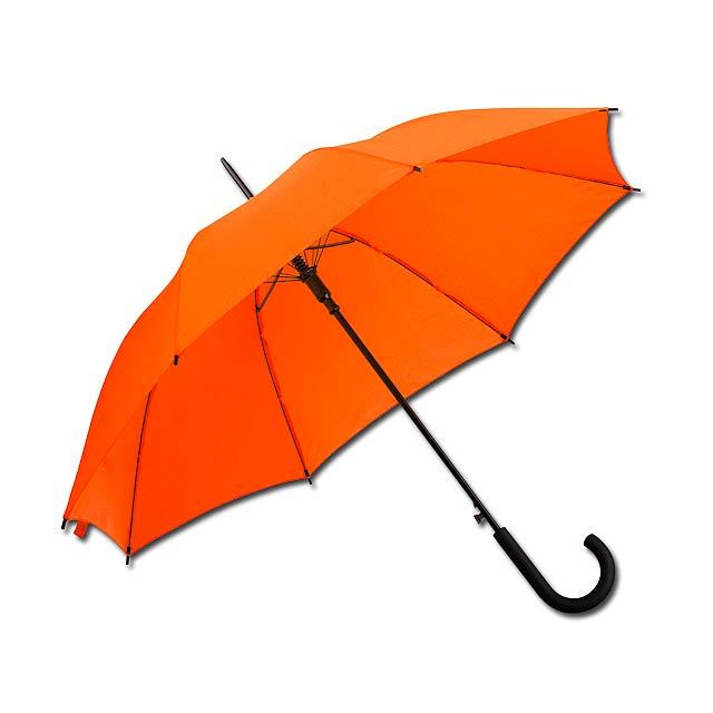 DONALD polyesterový vystřelovací deštník, 8 panelů, Oranžová - oranžová
