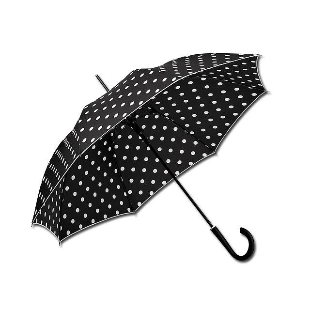 polyesterový vystřelovací deštník, 8 panelů, SANTINI - černá - foto
