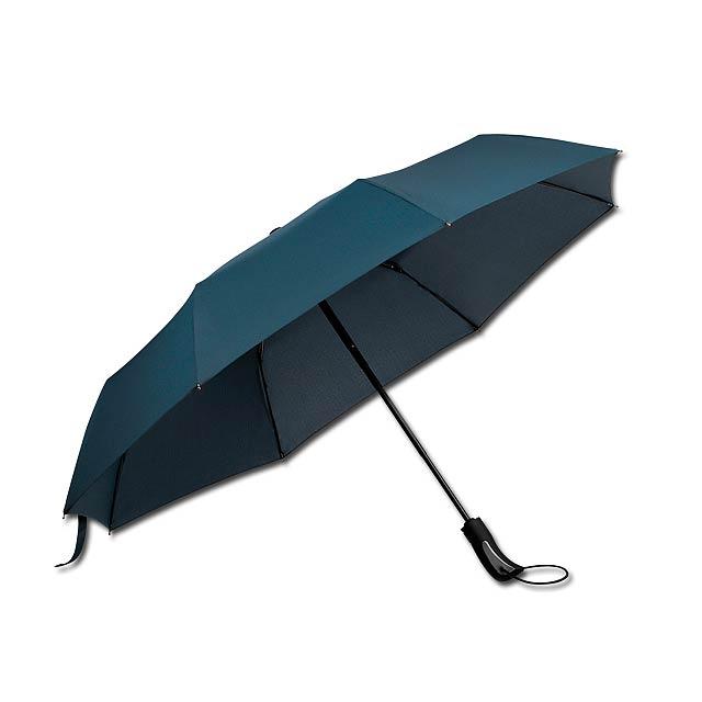 CAMPANELA - polyesterový skládací deštník, open/close, 8 panelů - modrá