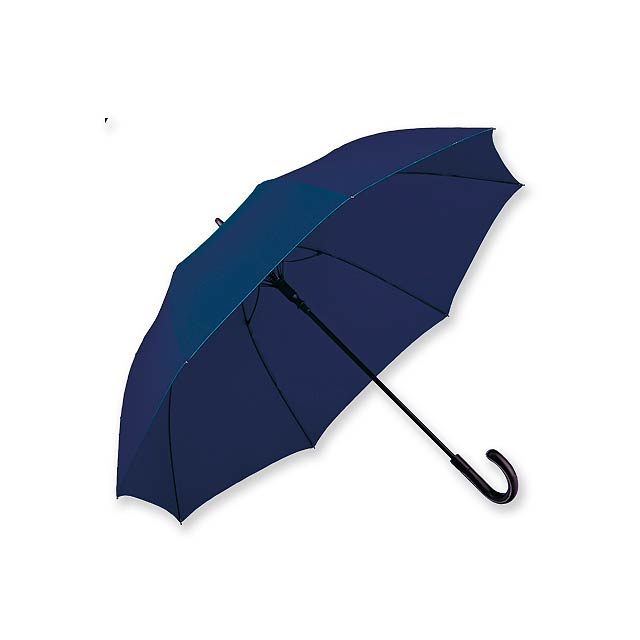SILVAN - polyesterový vystřelovací deštník, 8 panelů, SANTINI - modrá