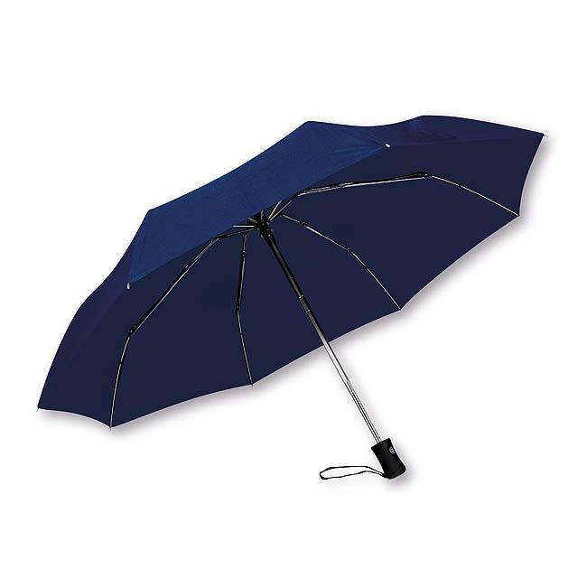 DIMA - polyesterový skládací deštník, open/close, 8 panelů, SANTINI - modrá