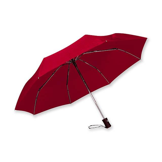 polyesterový skládací deštník, open/close, 8 panelů, SANTINI - červená - foto