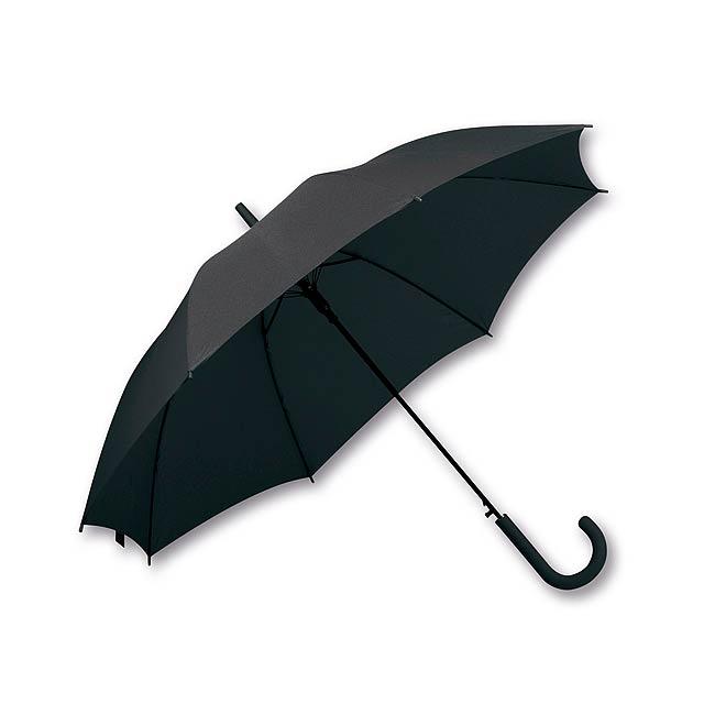LAVEDA - polyesterový vystřelovací deštník, 8 panelů, SANTINI - černá