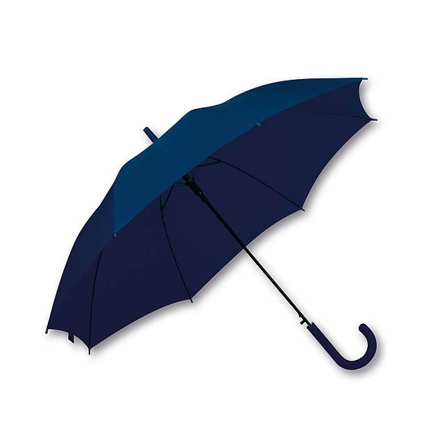 LAVEDA - polyesterový vystřelovací deštník, 8 panelů, SANTINI - modrá