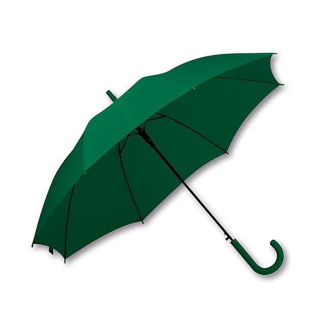 polyesterový vystřelovací deštník, 8 panelů, SANTINI - zelená - foto