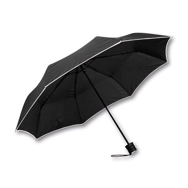 polyesterový skládací manuální deštník, 8 panelů - bílá - foto