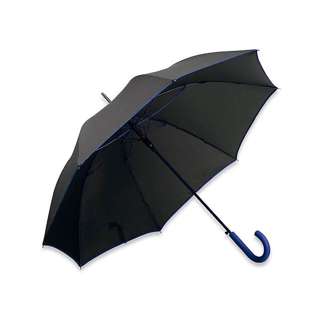 polyesterový vystřelovací deštník, 8 panelů - modrá - foto