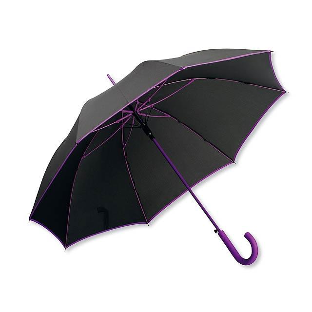 INVERZO - polyesterový vystřelovací deštník, 8 panelů - fialová