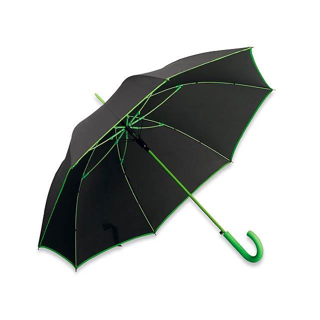 INVERZO - polyesterový vystřelovací deštník, 8 panelů - zelená
