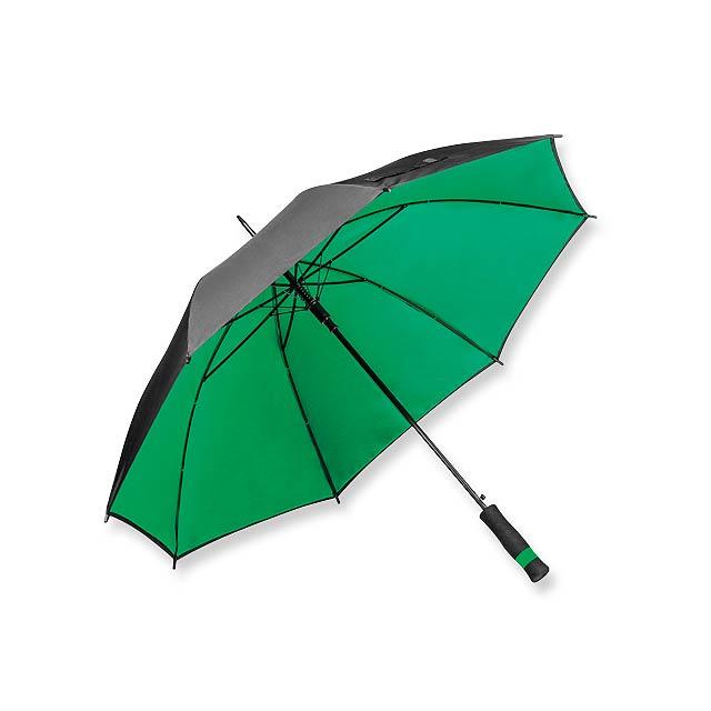 UMBRIEL - polyesterový vystřelovací deštník s dvojitým potahem, 8 panelů - zelená