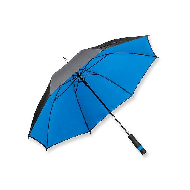UMBRIEL - polyesterový vystřelovací deštník s dvojitým potahem, 8 panelů - modrá